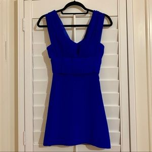 Bebe Blue Bow Dress LIKE NEW!